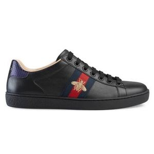 Embroidered Ace Sneakers in Black